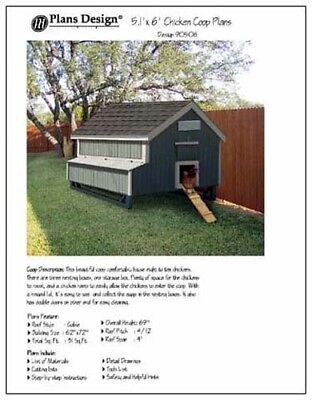 5x 6 Chicken Coop Plans How To Build A Chicken Coop Design 90506mg