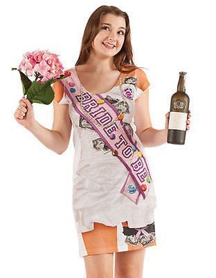 Faux Real Party Bride To Be Wedding Dance Halloween Costume Shirt Dress S-2Xl (Bride To Be Halloween Costume)