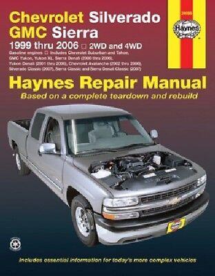 Repair Manual for Chevrolet Silverado & GMC Sierra 1999-06 2WD 4WD Haynes 24066