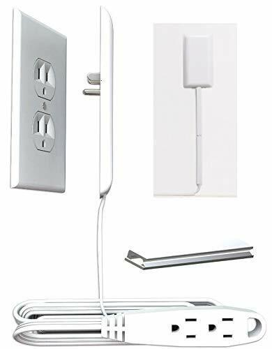 Sleek Socket Electrical Outlet Childproofing Cover with Protective Cord Clips