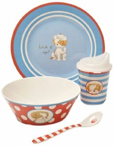 New Bunnies By The Bay Puppy Dish Set, Lick It Up