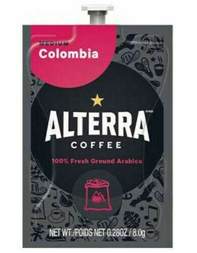 Flavia/Alterra COLOMBIA Coffee Case/Box 100 Packs/Pods 5 Rails Colombia