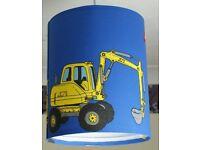 Blue Digger Lamp Shade and Duvet set