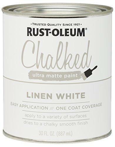 Rust-Oleum 285140 Ultra Matte Interior Chalked Paint 30 oz, 30oz Can, Linen