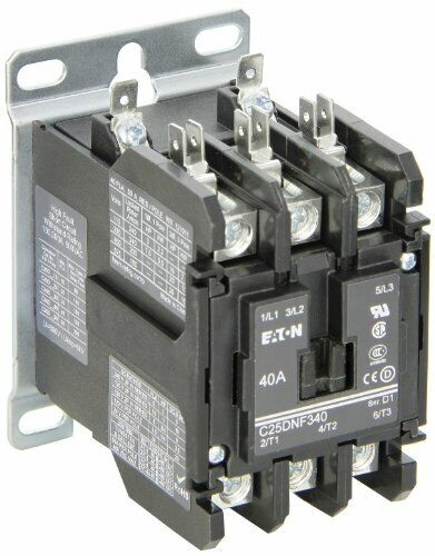 Eaton C25DNF340B. Definite Purpose Contactor, 50mm, 3 Poles, Box Lugs, Quick ...