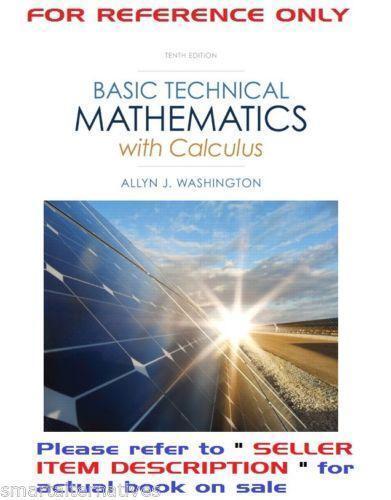 Basic technical mathematics books ebay fandeluxe Choice Image