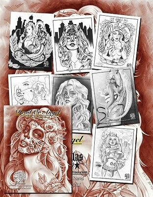DEVIL OR ANGEL TATTOO DESIGN BOOK by Steve Soto (30 pages) Variety Flash - Angel Devil Tattoo