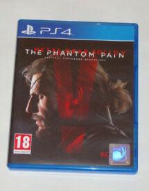 SONY PLAYSTATION PS4 GAME METAL GEAR SOLID 5 THE PHANTOM PAIN PAL 18 KONAMI ARMY