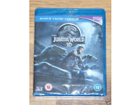 DVD FILM MOVIE 3D BLURAY JURASSIC WORLD 3D 2 DISC SET BLU RAY DTS ULTRAVIOLET..*