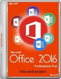GENUINE MICROSOFT OFFICE SUITE 2016 PRO PLUS NEW ON ORIGINAL MICROSOFT DISCS WITH LIFETIME KEYS