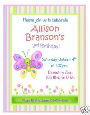 12 Sweet Butterfly Invitations ~ Birthday or Shower](Butterfly Birthday Invitations)
