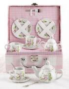 girls porcelain tea set ebay. Black Bedroom Furniture Sets. Home Design Ideas