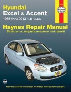 New Haynes Repair Manual Hyundai Excel and Accent Haynes Repair Manual covering