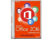 GENUINE M.S OFFICE SUITE 2016 PRO PLUS NEW ON ORIGINAL M.S DISCS WITH LIFETIME LICENCE KEYS