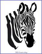 Schablone Zebra