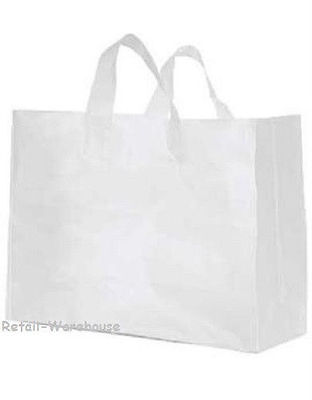 Clear Bags Plastic 50 Retail Merchandise Shopping Frosted Frosty 16 X 6 X 12