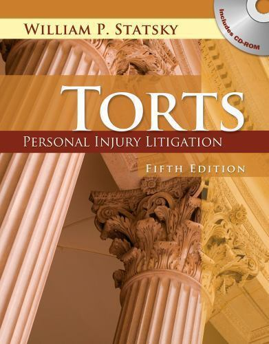 Torts: Personal Injury Litigation, Statsky, William P., Acceptable Book 1