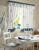 Brown and Teal Curtains