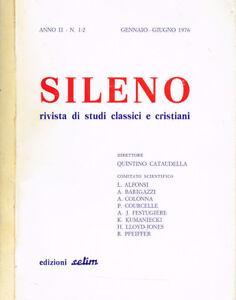 SILENO-RIVISTA-DI-STUDI-CLASSICI-E-CRISTIANI-anno-II-n-1-2
