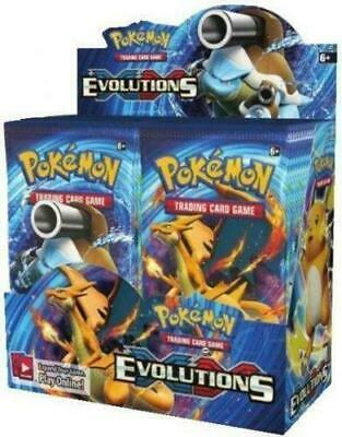 POKEMON XY EVOLUTIONS SLEEVED BOOSTER PACK 10 CARDS FACTORY SEALED