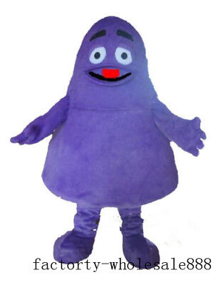 Halloween Purple Cartoon Character Mascot Costume Suit Cosplay Fancy Dress Adult - Cartoon Character Costumes Halloween