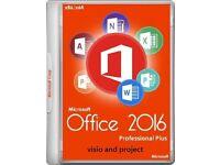 GENUINE MICROSOFT OFFICE SUITE 2016 PROFESSIONAL PLUS 32/64 BIT NEW ON DISC