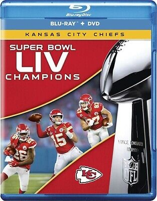 PREORDER MAR 10 SUPER BOWL LIV 54 CHAMPIONS KANSAS CITY CHIEFS New Blu-ray + DVD