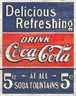 Blue Coca-Cola Signs