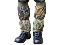 Military style gaiters – German Flecktarn Camo