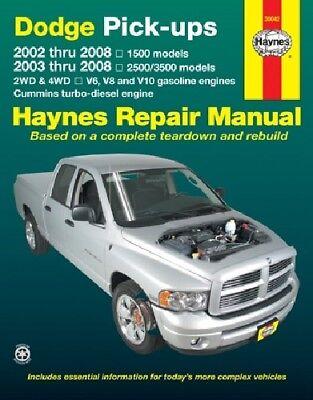 Haynes 30042 Repair Manual for Dodge Ram 1500 2500  3500 (1994-2008)