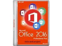 GENUINE M.S OFFICE SUITE 2016 PRO PLUS NEW ON ORIGINAL M.S DISCS WITH LIFETIME LICENCES