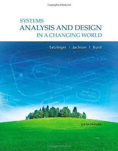 Satzinger - Systems Analysis and Design in a Changing World