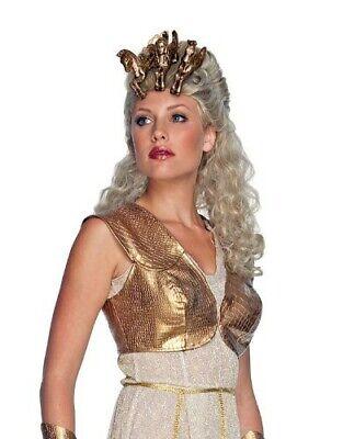 Kampf der Titanen Athena Deluxe Perücke Kopfschmuck Damen Damenperücke Göttin