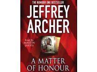 Jeffrey Archer-A Matter Of Honour audio book CD as NEW