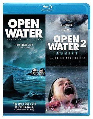 Blu Ray OPEN WATER and OPEN WATER 2 ADRIFT. Region free. New sealed. (Halloween 2 Opening)