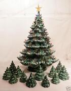 Green Ceramic Lighted Christmas Tree