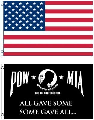 Wholesale Combo LOT 3' X 5' USA & Pow Mia All Gave Some Some Gave All FLAG 3X5