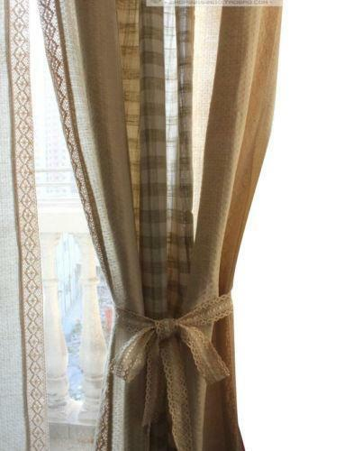 cotton lace curtains ebay