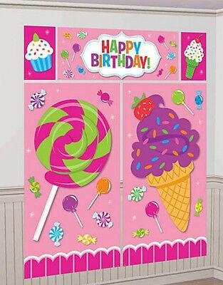 Bright Candy Wonka Ice Cream Cupcake Party Birthday Wall cupcake Photos