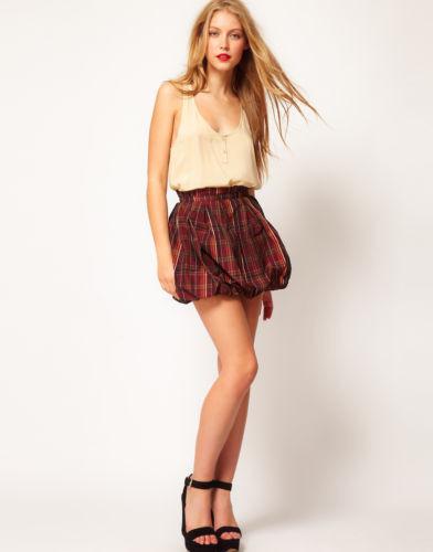 ASOS Tartan Miniskirt