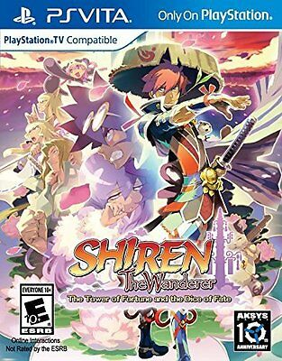 Shiren The Wanderer: Tower of Fortune Dice of Fate [Sony PlayStation Vita PSV]