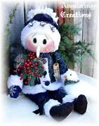 Primitive Snowman Doll