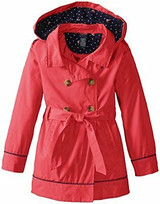 NEW Nautica Girls Babydoll Coat BABY DOLL KIDS JACKE SIZE 5 PINK CLASSIC TRENCH