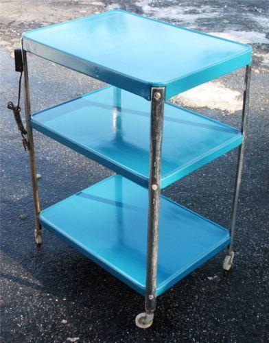 Vintage Metal Kitchen Cart