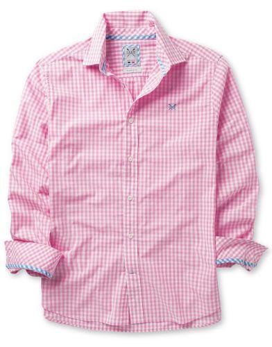 Pink gingham shirt ebay for Pink gingham shirt ladies