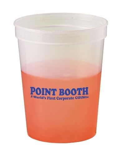 250 Color Changing Stadium Cups Customized w/ Your Logo/ Message.