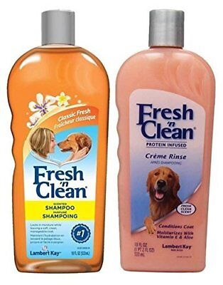 Fresh N Clean Classic Shampoo & Creme Rinse Bundle Full size  For Dogs  Fresh N Clean Dog Shampoo