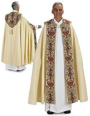 "MRT Coronation Tapestry Cope Catholic Priest Liturgical Vestment Gift 56""L"