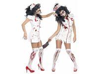 Sexy Zombie Nurse Halloween Costume 8-10 S Small