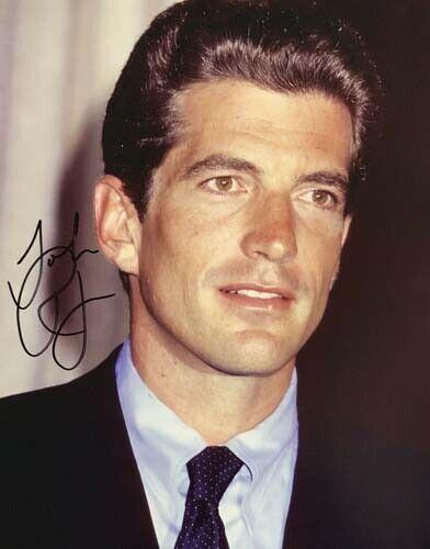 John F Kennedy Jr SIGNED 8x10 Photo John F Kennedy JFK Son Autographed reprint